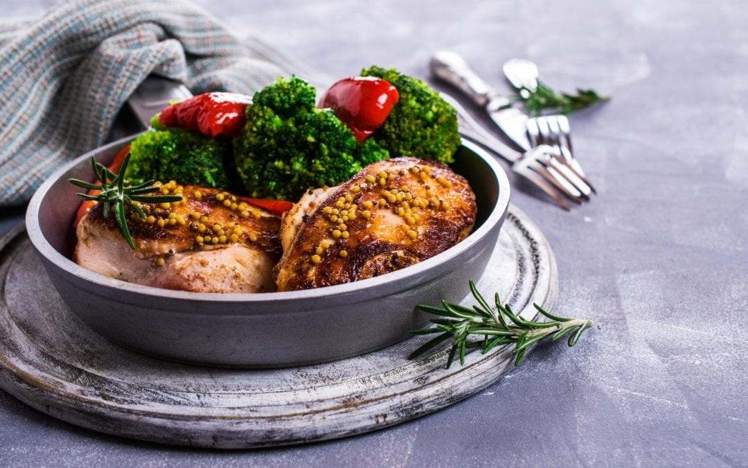 Mustard crusted turkey breasts